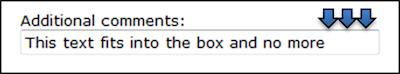 Image: Comment boxes should be big enough