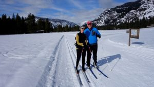 older cross-country skiers on Methow Valley trails